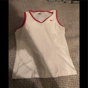 White Nike Workout Shirt